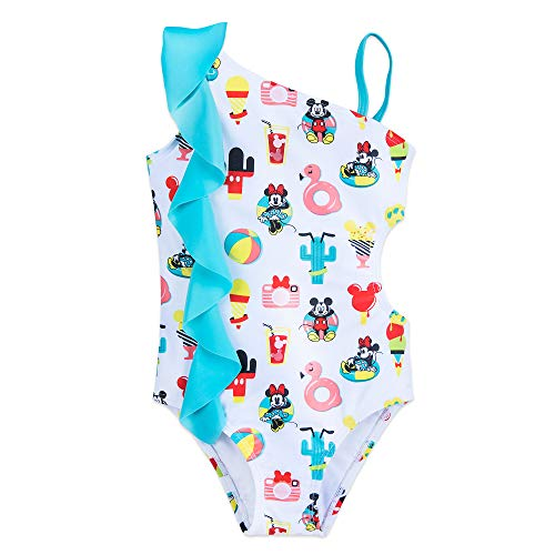 Disney Mickey and Minnie Mouse Summer Fun Swimsuit for Girls Size 7/8 ()