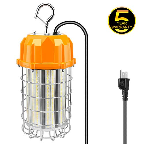 (NGTlight LED Temporary Work 150W Light Metal Halide Jobsite Workshop High Bay Lights 5000K Daylight LED Construction Lighting Portable Hanging Light AC100-277V)