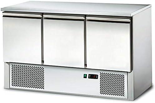 Saladette/Kühltisch PREMIUM - 1,37 x 0,7 m - mit 3 Türen