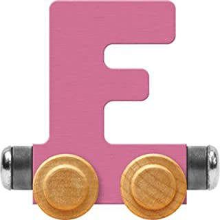 product image for Maple Landmark NameTrain Pastel Letter Car F - Made in USA (Pink)