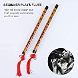 EXCEART 1 Set/2pcs Bamboo Flute Portable Delicate