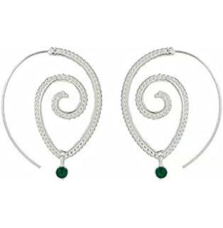 Color redondas espiral gota pendientes exageración Amor Corazón Whirlpool Gear Pendientes para mujeres joyas