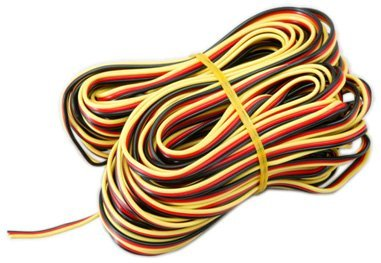 Hi Tec Rc - Hitec RCD 50' 3-Color Heavy Gauge Servo Wire