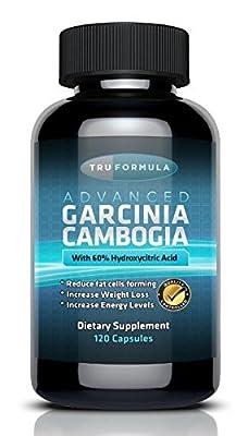 True Formula Pure Garcinia Cambogia Extract - 120 Capsules - Weight Loss Supplement - HCA Appetite Suppressant