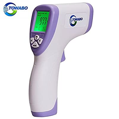 TOWABO Forehead Digital Thermometer Medical Grade Multi-function High Sensitivity Non-contact Digital Infrared , No Touch Instant Results Forehead Body Thermometer For Baby, Adults And Object