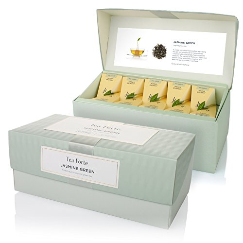 ion Box with 20 Handcrafted Pyramid Tea Infusers - Jasmine Green Tea (Jasmine Tea Ball)