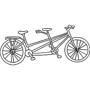 Azeeda A7 Bicicleta Tandem Sello de Goma (Desmontado ...