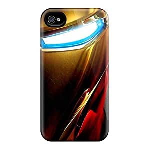 High Quality Iron Man Face Case For Iphone 4/4s / Perfect Case