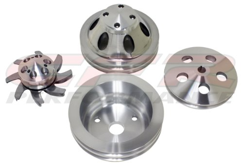 CHEVY SMALL BLOCK COMPLETE PULLEY SET (LWP) - MACHINED by CFR Performance