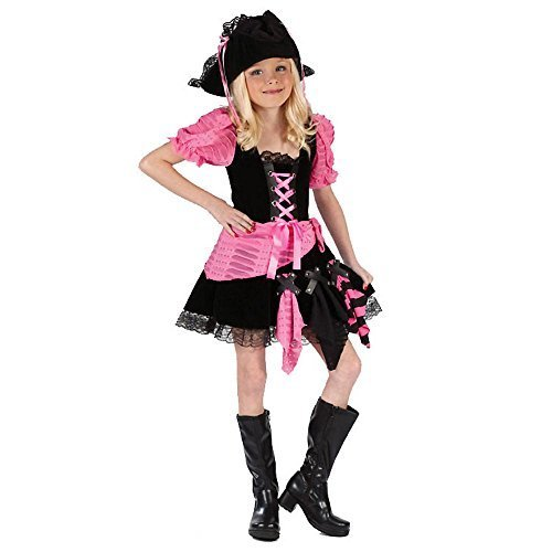 [Pink Punk Pirate Kids Costume] (Pirates Kids Costumes)
