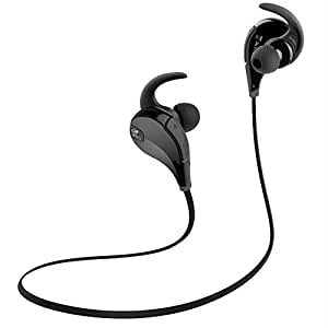 SoundPEATS Bluetooth Headphones Sport Wireless Earbuds In-Ear Stereo Earphones with Mic (Bluetooth 4.1, 6 Hours Play-time, CVC 6.0 Noise Cancelling, IPX4 Sweatproof ) - Black