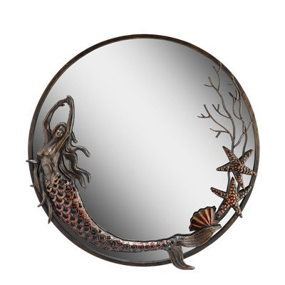 San Pacific International Inc Mermaid Round Mirror - 22.5 diam. In.