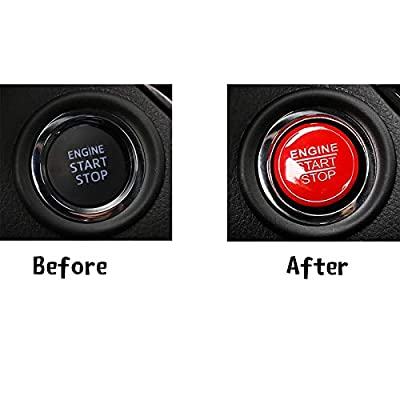 Xotic Tech Red Keyless Engine Start Stop Push Button Cover Trim for Toyota Camry Tacoma Prius Avalon Yaris: Automotive