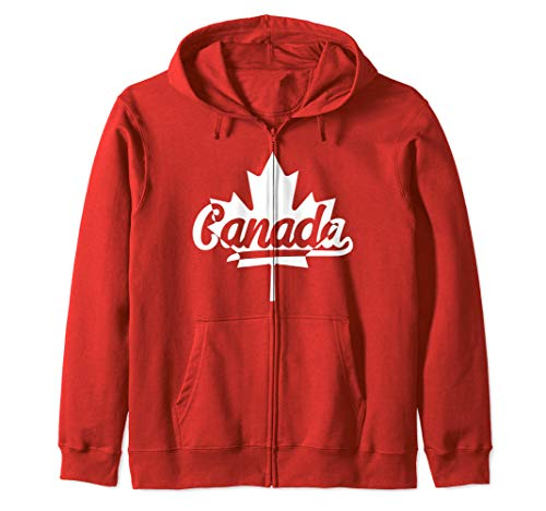 (Canada Maple Leaf Proud Canadian Flag Zip Hoodie)