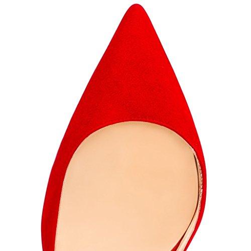 Club Rouge Chaussures 10cm Sexy Aiguille Escarpins Talon Edefs Soiree Femme Femmes RUpfAwA8x