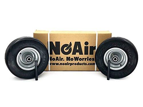NoAir (2) Dixie Chopper Flat Free Wheel Assemblies 13x6.50-6 MZ Replaces - Wheel Chopper