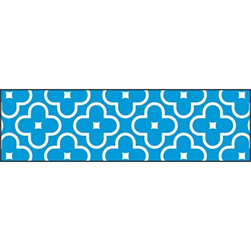 TREND enterprises, Inc. T-85191BN Floral Blue Bolder Borders, 35.75' Per Pack, 6 Packs