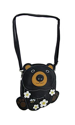 Bear 25 Body 8 Vinyl Sleepyville X Black Inches Cross Blossoms Bags 1 Womens Critters Crossbody X Purse Cuddle 8 Egqq0waHx