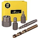 Topec 49pcs Screw Extractor/Drill Bit