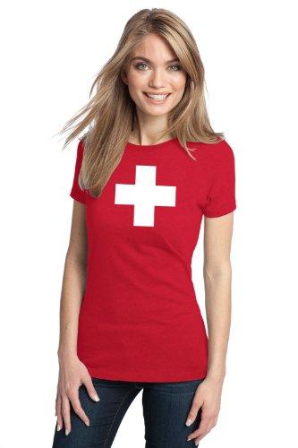 SWISS NATIONAL FLAG Ladies' T-shirt / Switzerland, Geneva, Zurich Tee
