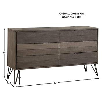 Lexicon Leavitt 6-Drawer Dresser, Gray