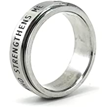 Phil 4:13 I Can Do All Things through Christ Spinner Ring