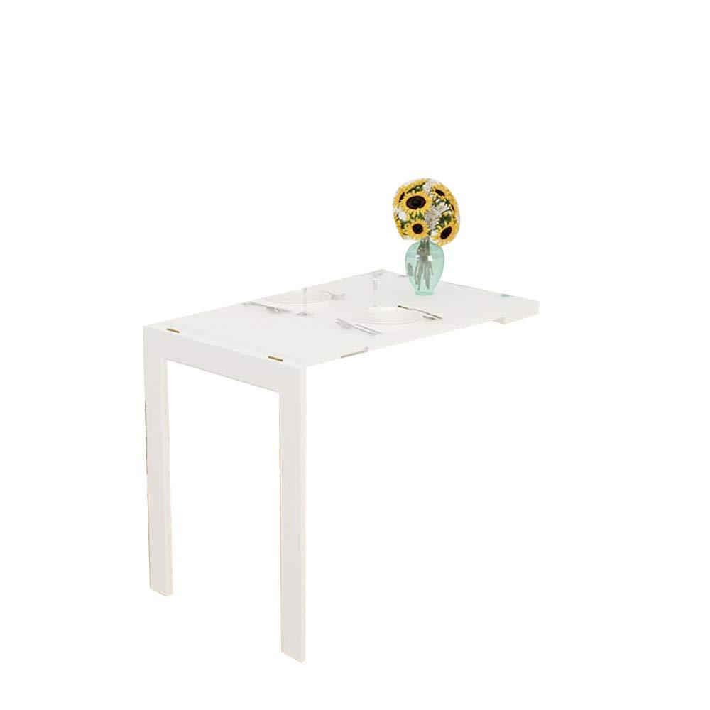 ノートパソコンスタンド 90X60X75cmMDF壁掛け折りたたみテーブル、落書きテーブル、キッチンテーブル、多機能コンピュータデスク、自宅学習テーブル (色 : 白)  白 B00BKXPGC8