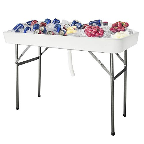 VINGLI 4 Foot Party Ice Cooler Folding Table