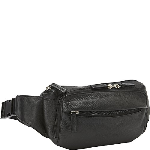 Derek Alexander Four Pocket Waist Bag (Black) by Derek Alexander Leather
