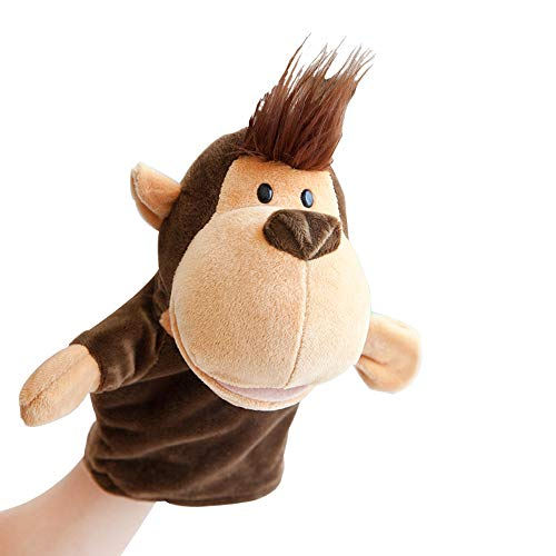 Hand Puppets Jungle Animal Friends with Working Mouth for Imaginative Play, Storytelling, Teaching, Preschool & Role-Play(Monkey)