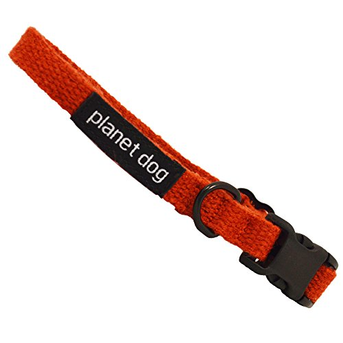 Planet Dog Lil' Hemp Collar, Adjustable, Machine Washable, Hypoallergenic, Small, Orange