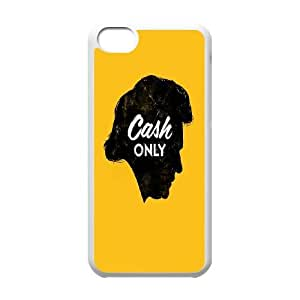 Johnny Cash iPhone 5C Cell Phone Case, Johnny Cash Custom Phone Case, iPhone 5C DIY Case