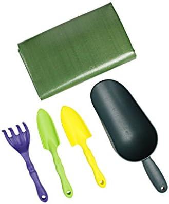 家庭園芸セット(作業サークル・工具4本) サークル グリーン