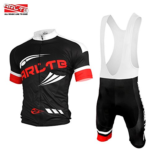 Arltb-Cycling-Jersey-and-Bib-Shorts-Set-Bicycle-Bike-Short-Sleeve-Jersey-Clothing-Apparel-Suit-Padded-Breathable-Quick-Dry-Non-Slip-for-Mountain-Bike-Road-Bike-MTB-BMX-Racing-Outdoor