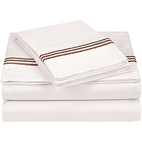 Downright WIND SET F CH Flat Fit Windsor Bed Cover Full Chocolate Full