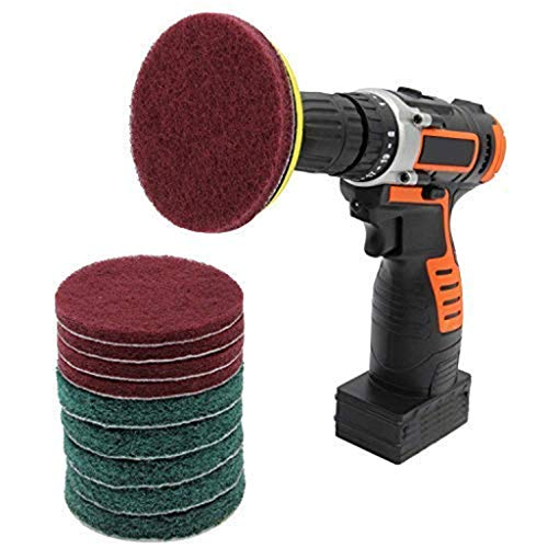 (11 Piece Scrub Brush Power Drill Cleaning Brush Cleaner Combo Tool Kit Perfect for Cleaning Grout)
