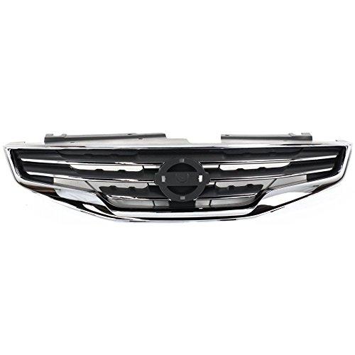Grille for Nissan Altima 10-12 Chrome Shell w/Black Insert Sedan