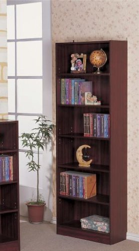 6-Tier BookCaliforniase in Walnut Finish by Poundex