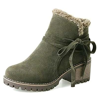 Amazon.com | Women Add Warm Fur Platform Winter Shoes