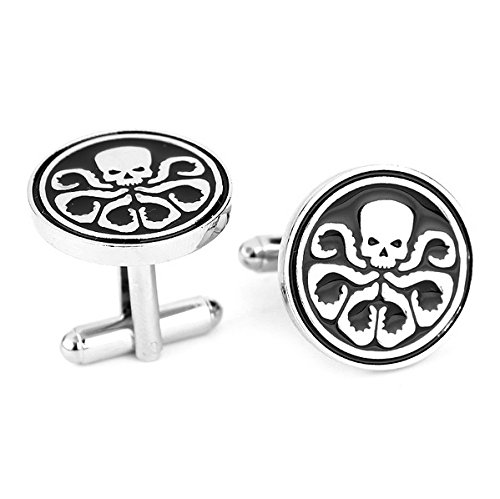 Steampunk - SKULL OCTOPUS - Men's Cufflinks Cuff Links - Squid Octo - Superhero Avengers Hydra (Steampunk Superheroes)