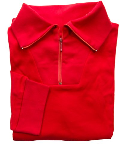 - Red Combed Cotton Mens Ski Zipper Turtleneck Jersey Shirt (X-Large, Red)