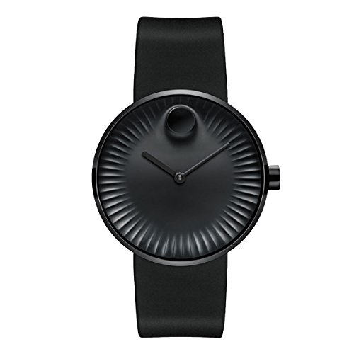 Movado Edge Black Aluminum Dial Swiss Quartz Men's Watch 3680005 (Mens Black Movado Watch)