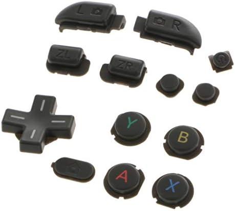 P Prettyia ABXY L R ZL ZRホームキー修理ボタンは新しいニンテンドー3DSXL / LLグレーのパーツを交換します