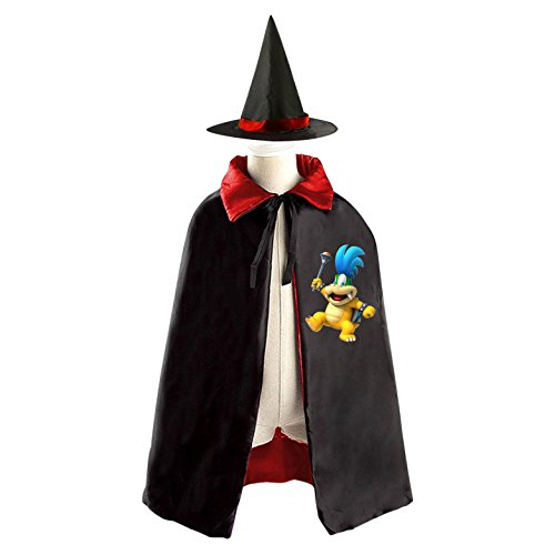 Larry Boy Costume (Cosplay Halloween Costume Set Larry the Cucumber Reversible Cape Witch Cloak with Hat)