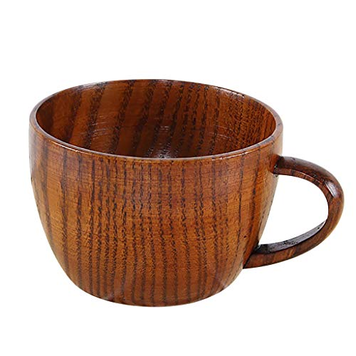 Dergo ☀Tea Cup Small Handmade Natural Solid Wood Tea Cup Wooden Wine Coffee Water Drinking Mug (G) ()