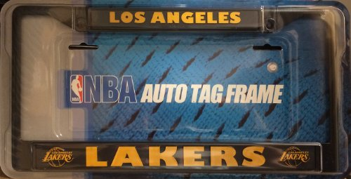 lakers license plate frame chrome - 6