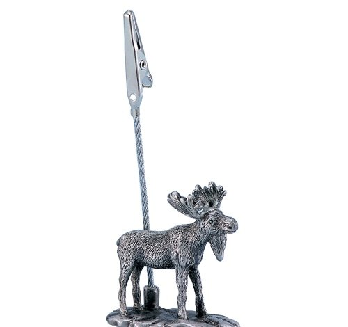 PEWTER MOOSE MEMO CLIP, Case of 144