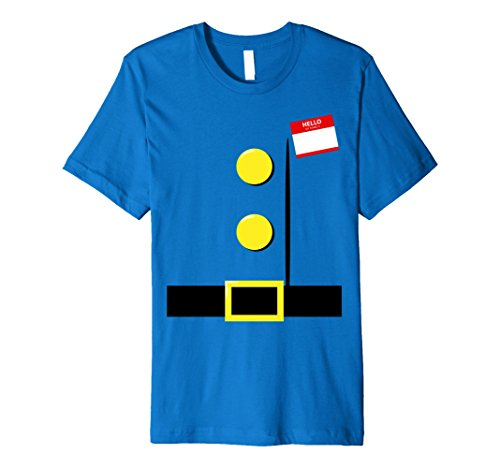 Halloween Costumes Ideas For A Group Of 5 (Mens Dwarf Halloween Group Costume Idea T-Shirt with Name Plaque XL Royal Blue)