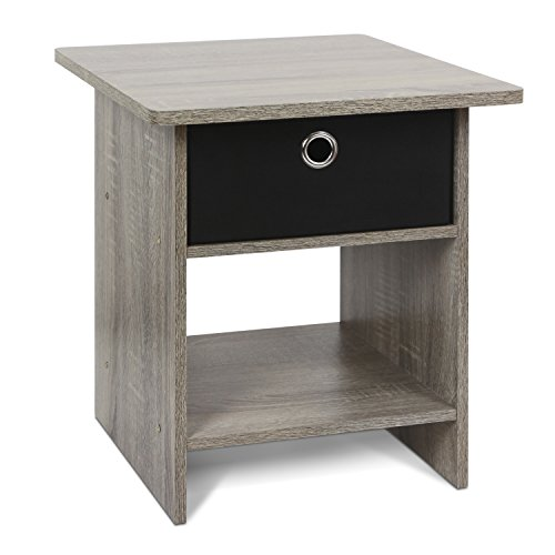 - Furinno 10004GYW/BK Bin Drawer, 1-Pack, French Oak Grey/Black