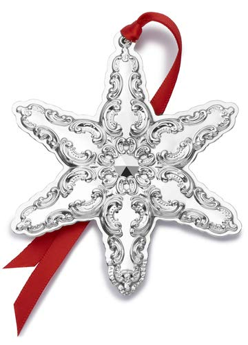 (Wallace 2019 Grande Baroque Snowflake-22nd Edition Holiday Ornament, Metal)